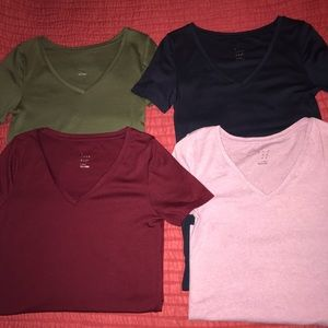 4 v neck fitted soft shirts A New Day
